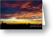 Autumn Photographs Greeting Cards - Storm Sky Blast Greeting Card by Andrea Hazel Ihlefeld