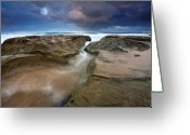 Surge Greeting Cards - Storm Surge Greeting Card by Mike  Dawson
