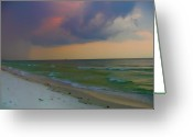 Storm Digital Art Greeting Cards - Storm Warning Greeting Card by Bill Cannon