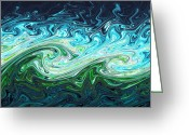 Chaos Theory Greeting Cards - Storm Waves, Chaos Model Greeting Card by Eric Heller