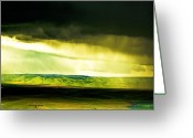 Storm Digital Art Greeting Cards - Storm Window Greeting Card by Dale Stillman