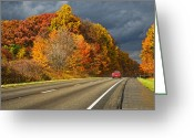 Interstate Greeting Cards - Stormin Through Pennsylvania 2 Greeting Card by Steve Harrington