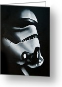 Star Wars Greeting Cards - Stormtrooper Greeting Card by Clifton Llamas