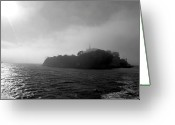 Alcatraz Greeting Cards - Stormy Alcatraz Greeting Card by Methven Forbes