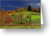 Storm Digital Art Greeting Cards - Stormy Autumn Morning Greeting Card by Thomas R Fletcher