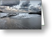 Pedro Cardona Greeting Cards - Stormy Beach 1 Greeting Card by Pedro Cardona