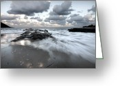 Pedro Cardona Greeting Cards - Stormy Beach 2 Greeting Card by Pedro Cardona