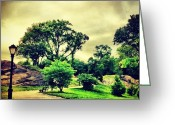 Picoftheday Greeting Cards - Stormy Central Park. #nyc #centralpark Greeting Card by Luke Kingma