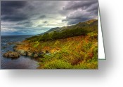 Matthew Trimble Greeting Cards - Stormy Coast Greeting Card by Matt  Trimble