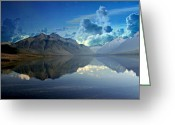 Marty Koch Greeting Cards - Stormy Lake Greeting Card by Marty Koch