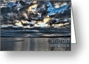 Ron Roberts Photography Framed Prints Greeting Cards - Stormy Morning Greeting Card by Ron Roberts