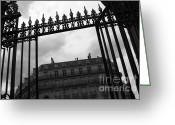 Clods Greeting Cards - Stormy Paris Greeting Card by Carol Groenen