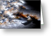 Rage Greeting Cards - Stormy Seas Greeting Card by Amorina Ashton