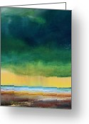 Storm Prints Painting Greeting Cards - Stormy Seas Greeting Card by Toni Grote