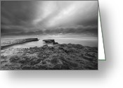 Seaside Greeting Cards - Stormy Seaside Greeting Card by Larry Marshall