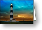 Acrylic Framed Greeting Cards - Stormy Sunrise Greeting Card by Dan Carmichael