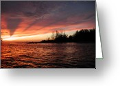 N Taylor Greeting Cards - Stormy Sunset Greeting Card by N Taylor