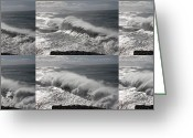 Atlantic Ocean Greeting Cards - Stormy wave sequence Greeting Card by Cedric Darrigrand