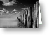 Tranquility Greeting Cards - Stormy Weather Greeting Card by Christiane Michaud