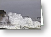 Storm Prints Greeting Cards - Stormy Weather Greeting Card by Paul and Fe Photography Messenger