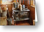 Thank You Greeting Cards - Stove - Remember the good ol days when  Greeting Card by Mike Savad