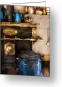 Pan Greeting Cards - Stove - The Stove Greeting Card by Mike Savad