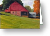Carversville Greeting Cards - Stover Mill Greeting Card by Kit Dalton