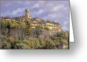 Le May Greeting Cards - St.Paul de Vence Greeting Card by Guido Borelli