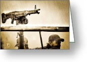 Military Photo Greeting Cards - Strange Days Greeting Card by Bob Orsillo