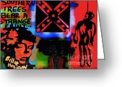 99 Percent Greeting Cards - Strange Fruit Greeting Card by Tony B Conscious