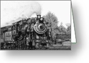 Amish Greeting Cards - Strasburg Railroad Greeting Card by Bruce Kay