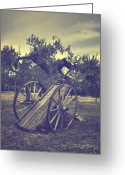 Cart Greeting Cards - Straw Cart Greeting Card by Joana Kruse