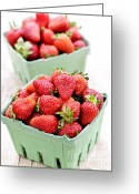 Boxes Greeting Cards - Strawberries Greeting Card by Elena Elisseeva