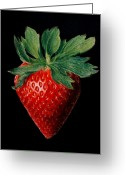 Strawberry Pastels Greeting Cards - Strawberry - pastel Greeting Card by John  Palmer