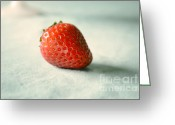 Fresh Picked Fruit Greeting Cards - Strawberry Greeting Card by Anna Crowder