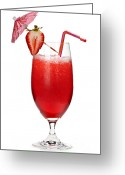 Decorated Greeting Cards - Strawberry daiquiri Greeting Card by Elena Elisseeva
