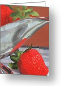 Silver Pitcher Greeting Cards - Strawberry Season Greeting Card by Lynne Reichhart