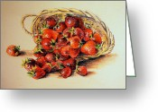 Strawberry Pastels Greeting Cards - Strawberry Greeting Card by  Svetlana Nassyrov