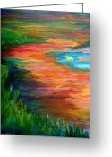 Photographs Painting Greeting Cards - Stream of Color Greeting Card by Julie Lueders