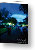 Gloaming Greeting Cards - Street-01 Greeting Card by Eakaluk Pataratrivijit