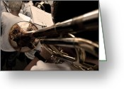Pedro Cardona Greeting Cards - Street Band Greeting Card by Pedro Cardona