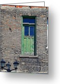 Old Relics Greeting Cards - Street Door Greeting Card by Cyryn Fyrcyd