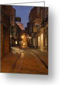Clock Greeting Cards - Street in Cork Greeting Card by Mike McGlothlen