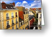 Rooftops Greeting Cards - Street in Rennes Greeting Card by Elena Elisseeva