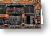 Rabat Greeting Cards - Street Life II Greeting Card by Chuck Kuhn