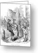 Hurdy-gurdy Greeting Cards - Street Musicians, 1854 Greeting Card by Granger