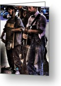 Street Musicians Greeting Cards - Street Musicians Greeting Card by David Patterson