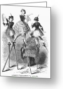 Hurdy-gurdy Greeting Cards - Street Performers Greeting Card by Granger