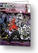 Lil Wayne Greeting Cards - Street Phenomenon Chris Brown Greeting Card by The DigArtisT