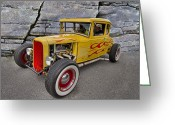 Ford Street Rod Greeting Cards - Street Rod Greeting Card by Debra and Dave Vanderlaan